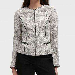 NWT $139 DKNY Womens Size Large Ivory/Black Jacket